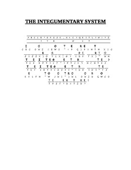 THE INTEGUMENTARY SYSTEM CRYPTOGRAM