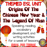 ESL: THE CHINESE LEGEND OF NIAN ♥ Reading and Writing Practice