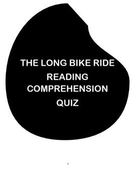 THE LONG BIKE RIDE BY MELINA MANGAL ( READING COMPREHENSIO