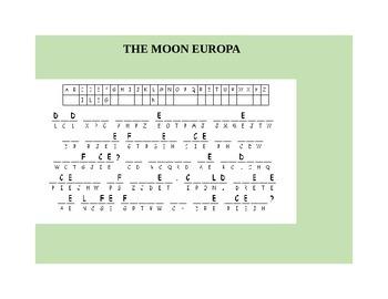 THE MOON EUROPA  CRYPTOGRAM