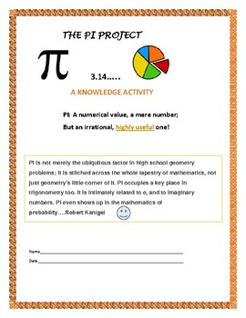 THE PI PROJECT: THINK OUTSIDE THE CIRCLE! Application,rese