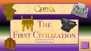 THE SHANG DYNASTY ANIMATED POWERPOINT with VOCABULARY