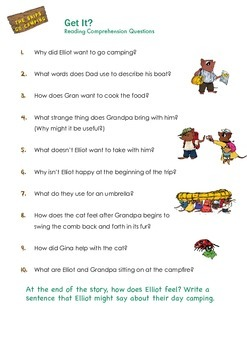 THE SNIPS: The Snips Go Camping Activity - Reading Comprehension