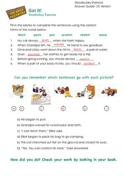 THE SNIPS: The Snips Go Camping Activity - Vocabulary Chal