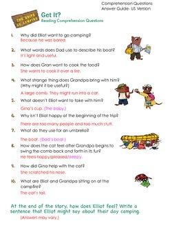 THE SNIPS: The Snips Go Camping - Reading Comprehension AN