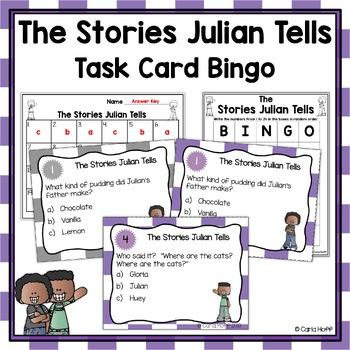 THE STORIES JULIAN TELLS - Task Card Bingo!
