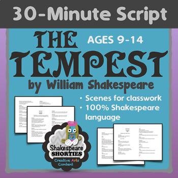 NEW! THE TEMPEST - 30-Minute Script or Scenes for Elementa