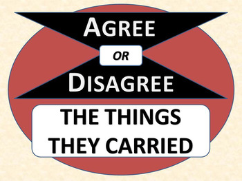 THE THINGS THEY CARRIED - Agree or Disagree Pre-reading Activity