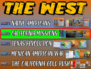 THE WEST! (PART 2: CALIFORNIA MISSIONS) visual, textual, e
