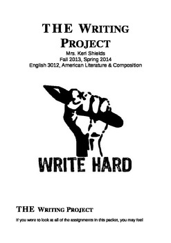 THE Writing Project:  Assignments 1 - 12