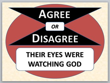 THEIR EYES WERE WATCHING GOD - Agree or Disagree Pre-readi