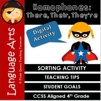 Homophones: THERE, THEIR, THEY'RE Sort/CCSS Aligned