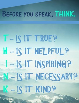 THINK Poster - Nature Theme