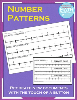 THOUSANDS of Number Patterns on Number Lines! - Automatic