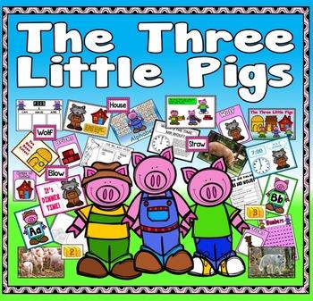 THREE LITTLE PIGS STORY RESOURCES EYFS KS 1-2 ENGLISH LITE