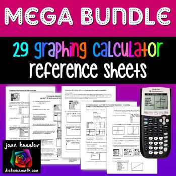 Graphing TI 83 - 84 Mega Bundle of 26 Teaching Learning Ha