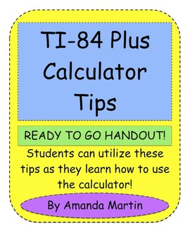 TI-84 Plus Calculator Tips