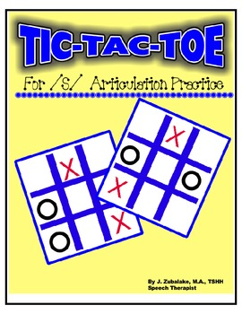 SPEECH THERAPY TIC-TAC-TOE GAME for /S/ ARTICULATION PRACTICE