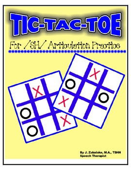 SPEECH THERAPY TIC-TAC-TOE GAME for /SH/ ARTICULATION PRACTICE