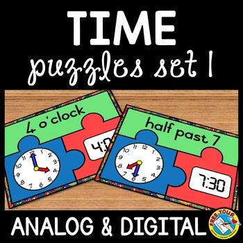 TIME ACTIVITIES: TIME PUZZLES: TIME TO THE HOUR AND HALF H