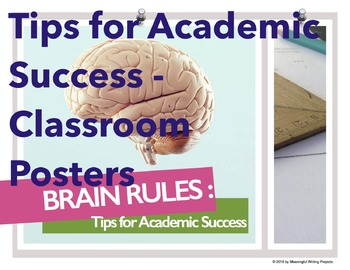 Tips for Academic Success - Classroom Posters