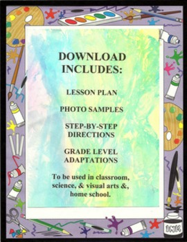 PRINTING WITH TISSUE PAPER, ETC.  - Lesson Plan with Bundl