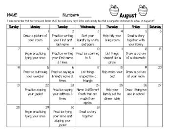 Pre-K / TK / K Transitional / Kindergarten 2016-2017 Month