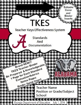TKES Georgia Teacher Evaluation Binder: Standards and Rubr