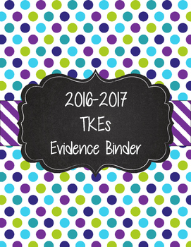 TKEs Binder for Georgia in lime green, purple, and teal