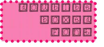 Doubled Lined Box with Dots Font
