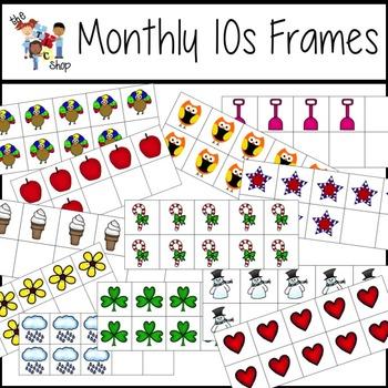 TLC Clip Art - Monthly Tens Frames