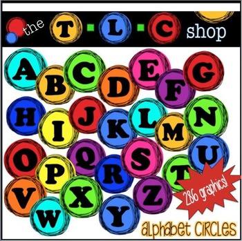 TLC Clipart - Alphabet Circles