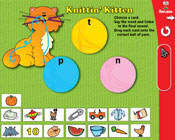 Final Consonants: Knittin' Kitten (Grade 1) [Interactive P