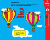 Verb Tenses: Up, Up, and Away (Grade 3) [Interactive Prome