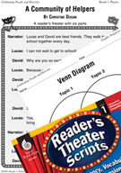 A Community of Helpers Reader's Theater Script and Lesson