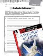 A Wrinkle in Time Close Reading and Text-Dependent Questio