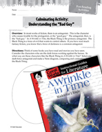 A Wrinkle in Time Post-Reading Activities (Great Works Series)