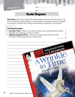 A Wrinkle in Time Reader Response Writing Prompts (Great W