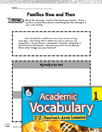 Academic Vocabulary Level 1 - How Families Change
