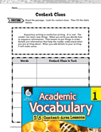 Academic Vocabulary Level 1 - Writing Expository Texts
