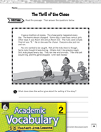 Academic Vocabulary Level 2 - Reading Fiction