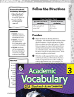 Academic Vocabulary Level 3 - Follow the Directions