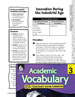 Academic Vocabulary Level 3 - Innovation During the Indust