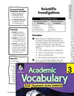 Academic Vocabulary Level 3 - Scientific Investigations