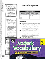 Academic Vocabulary Level 3 - The Solar System