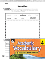Academic Vocabulary Level 4 - Characteristics of Places