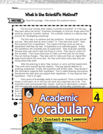 Academic Vocabulary Level 4 - The Scientific Method