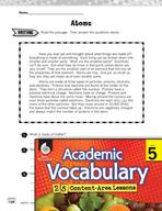 Academic Vocabulary Level 5 - Atoms