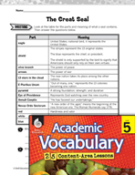 Academic Vocabulary Level 5 - Great Seal of the United States