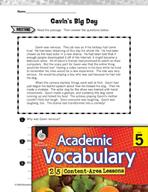Academic Vocabulary Level 5 - Reading Fiction